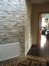 OYSTER Divisione faccia Slate Muro mosaico piastrelle rivestimento, uso interno o esterno
