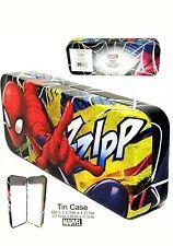 "Marvel Spider-Man 8"" x 3.125"" x 1.375"" Back to School Tin Pencil Case"