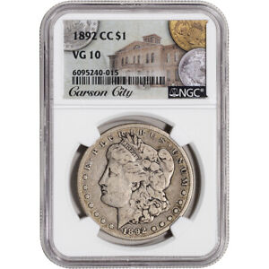 1892 CC US Morgan Silver Dollar $1 - NGC VG10