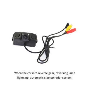 3 In 1 Car Reversing Parking Sensor Backup Rear Smart View Camera Alarm 1080P