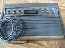 ATARI VIDEO COMPUTER SYSTEM MODEL NO. CX-2600 WITH 14 GAMES - NO CONTROLLERS
