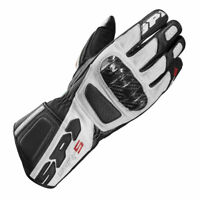 Spidi STR-5 CE Motorcycle Motorbike Leather Gloves White / Black