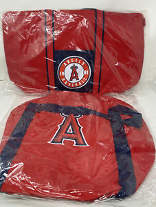 Angels MLB Baseball Red Insulated Cooler Drink Bag & Duffel Bag Tote New