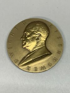 """Bronze Presidential US Mint 3"""" High Relief Inaugural Medal -Dwight D. Eisenhower"""