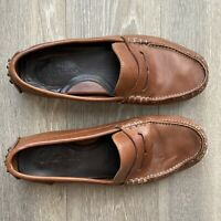 Cole Haan Men's Pinch Nike Air Lot Penny Loafer Leather Size 10 M Saddle Brown
