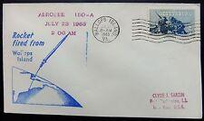 Enveloppe conquête spatiale américaine du 23 07 1963 de Wallops Island Aerobee