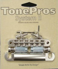 LPNM04-SN TonePros Standard (US Thread) Bridge/Tail Set, Satin Nickel Finish