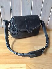 Radley Black Leather Tote Shoulder Handbag Clutch Bag Shopper With Dog Tags