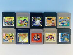 Junk Lot of 10 GB GBC Cartridge Pokemon Rockman Sailor moon Nintendo Game Boy
