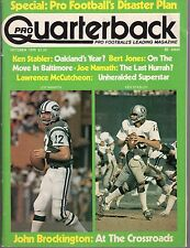 1976 (Oct.) Pro Quarterback Football magazine, Joe Namath, Ken Stabler ~ Fair