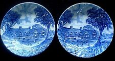 ROYAL ESSEX Shakespears Country IRONSTONE blue / white 5 1/4 inch bowls x 2