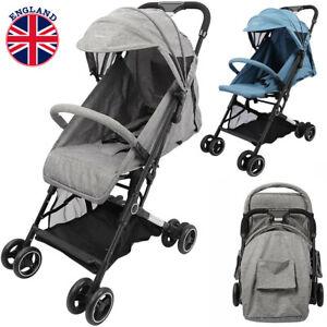 Baby Toddler Pushchair Pram Buggy w/Rain Cover Foldable Travel Stroller Seat UK