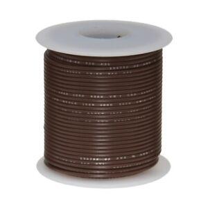 """28 AWG Gauge Stranded Hook Up Wire Brown 25 ft 0.0126"""" MIL Spec 600 Volts"""