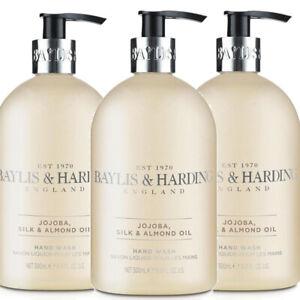 Baylis & Harding JOJOBA VANILLA & ALMOND OIL Hand Wash 500ml Pack of 3