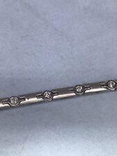 14kt white gold bracelet 1.2ct Dia 15.1gr #3812