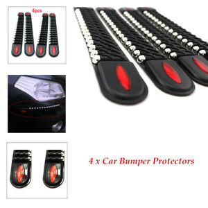 4Pcs/Set Decorate Car Bumper Corner Guard Protector Anti-collision Trim Strip