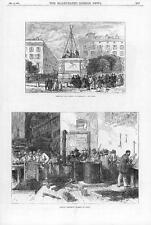 1870 FRANCE Views Lyons Removing Napoleon Statue Making Chassepot Bullets (240)
