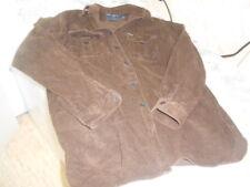 Men's Brown Corduroy Ralph Lauren Polo Sport Long Short Sleeved Button DownShirt