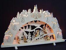 Arc à lumière à bougies chandeliers 3D Seiffen avec 5 enfants d'hiver 55 cm