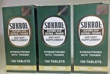 Pack of 3 - Sukrol Dietary Supplement 100 Tablets Each