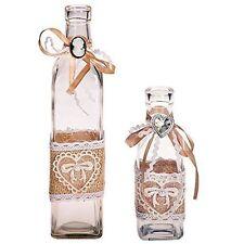 Dekoflasche Glasflasche Shabby Chic Landhaus Glas Dekoration Deko