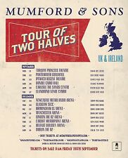 "MUMFORD & SONS ""TOUR OF TWO HALVES UK & IRELAND"" 2012 CONCERT POSTER - Folk Rock"