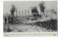 MILITAIRE  GUERRE 1914  ARMEE BELGE  BATTERIE DE CAMPAGNE EN ACTION