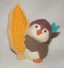 Hallmark Merry Miniatures 1994 Thanksgiving Native American Bird  with Corn