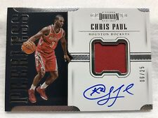 2017-18 Dominion CHRIS PAUL Autograph Game Used Jersey 06/25 Rockets