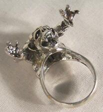 1 deluxe GOTHIC CREATURE NEW SILVER BIKER RING BR02 mens fashion jewelry rings