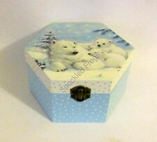 Jewellery Box/Trinket box. 'Snow Bearand Cubs,' by Speckled Frogs