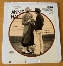 Vintage Annie Hall Movie Ced Selectavision Video Disc Rare Woody Allen