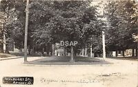 A81/ Athens Ohio Postcard Real Photo RPPC 1907 Mulberry Street Homes