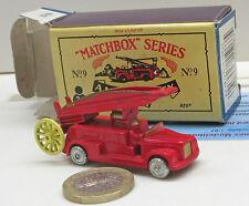 Matchbox N° 9 A Dennis Fire Moteur (Nouvelle édition 1988)