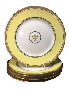 (5) Richard Ginori IMPERO Yellow 7.75 Inch SALAD PLATES