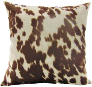 """Decorative Cow Hide Suede Velvet pillow (set of 2) 18""""x18""""  INSERT INCLUDED"""