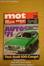 MOT 26/70 Audi 100 Coupe Fiat 128 Kombi Peugeot 504
