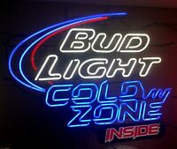 BUSCH LIGHT Cold Zone Inside Neon Beer Sign -  Works Great!