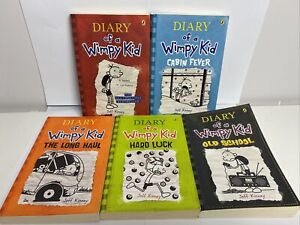 Diary of a Wimpy Kid (5 x Books 1-6-8-9-10)