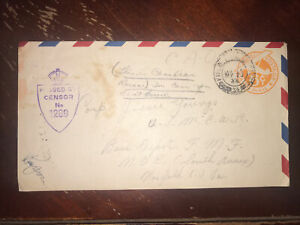 Rare WWII 1944 Us Field Cover Canadian Army Oversea Central Mediterranian Force