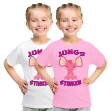 Kinder T-Shirt Jungs stinken Größe 86 - 164 Mädchen Spruch Sprüche Pink Geschenk