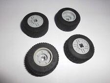 Lego (55982c03) 4 Reifen 30.4x14 mit Felge in hellgrau aus 8142 75913 42023 8138