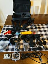 GoPro Hero2 Black Action Camera Camcorder and Accessories Kit With Hard Case