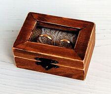Rustic Wedding ring box, Ring bearer box, Wooden Wedding Box, Rustic Wedding Box