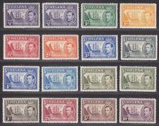 St Helena 1938-44 King George VI Badge Set Mint SG131-140 cat £140