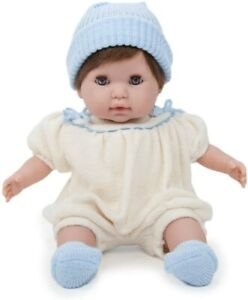 """Berenguer Boutique 30020  15"""" Nonis Baby Wearing Cream Blue Romper - New in Box"""