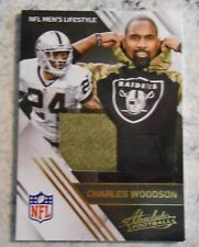 2016 Charles Woodson Raiders Absolute NFL Lifestyle Jersey Patch Swatch Gray