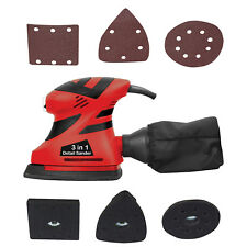 Multi Use 180W Palm Sander with Three Bases Round Square Detail Delta Dust Bag
