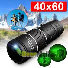 40x60 Monocular HD Optical BAK-4 Telescope w/ FMC Lens Day Night Vision Scope