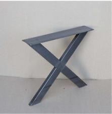 Raw Steel Coffee Table Legs X shape 1 Pair-Tubing 45cm/18'' wide, 40cm/ 16'tall
